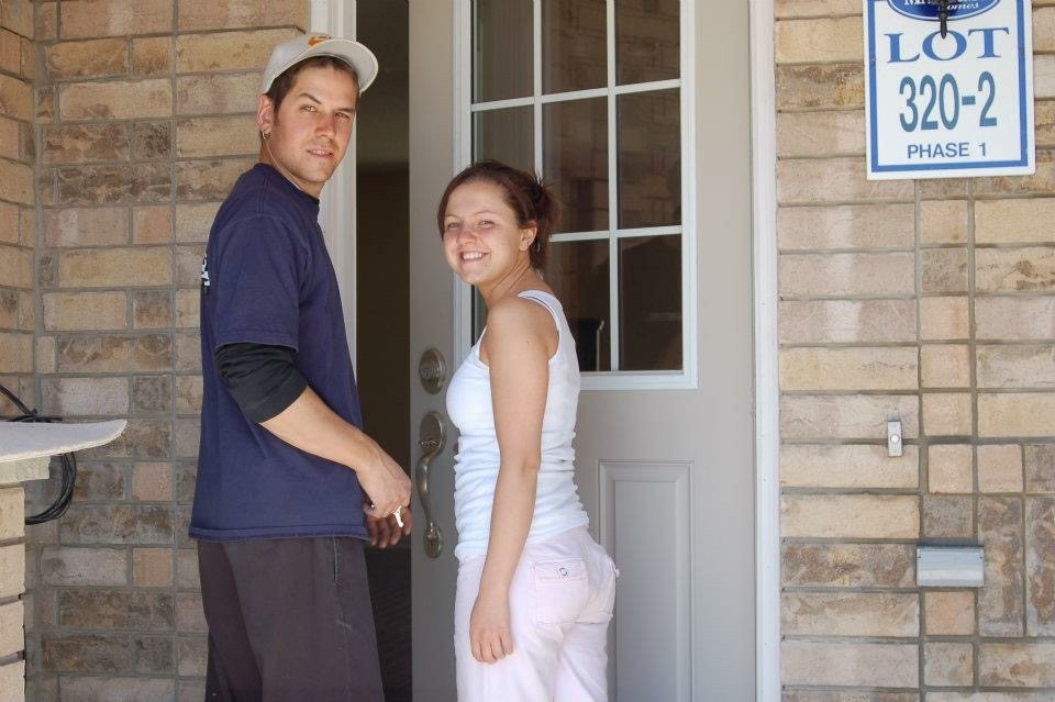 May 28, 2008 The day we got our keys, and just a few months before our wedding.