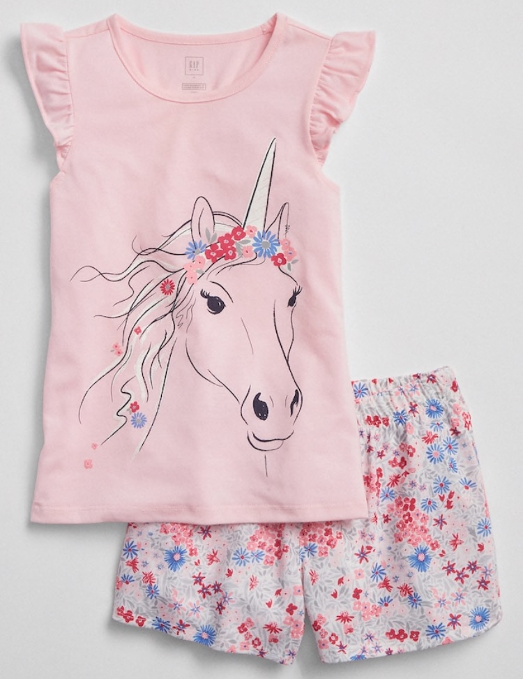 To get her to agree on the dress I bribed her with unicorn Pj's