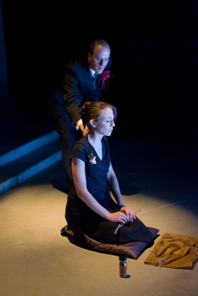 John Geoffrion and Sara Barker in Washington Shakespeare Company's production, 2008. Photo: Ray Gniewek.