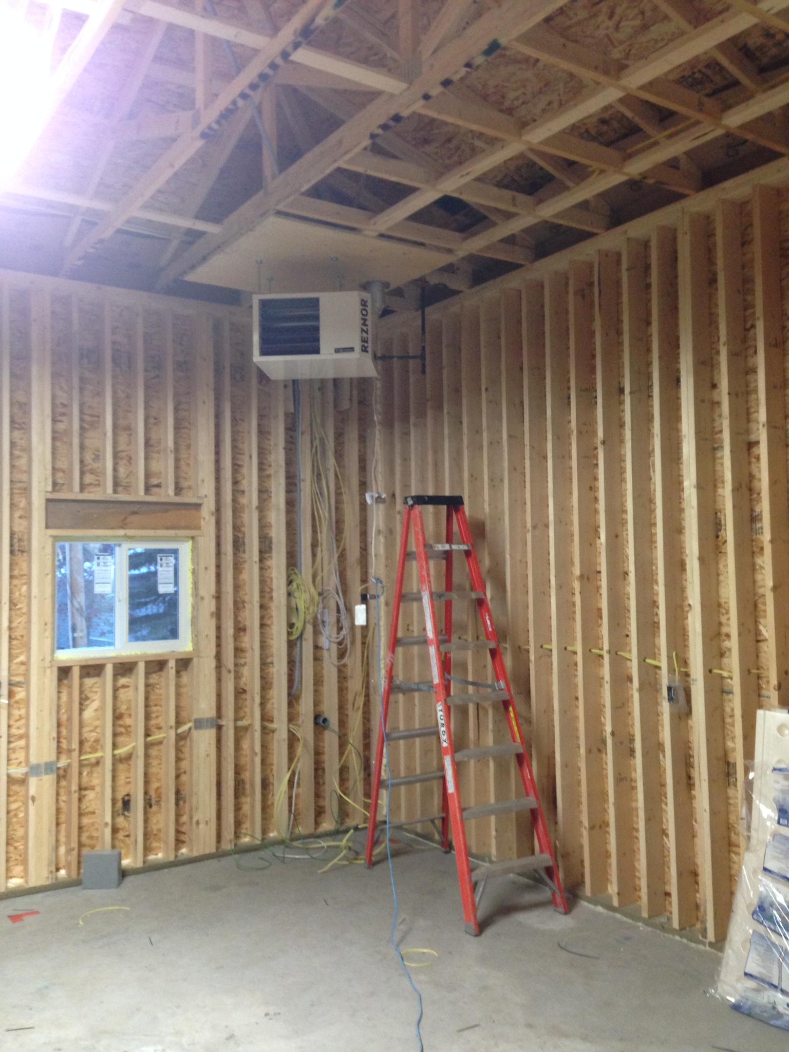 garage heater install