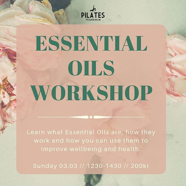🌿Introductory Workshop in Essential Oils 🌿 Join Mari Sommerchild for inspiring Sunday afternoon learning about the holistic benefits of this natural and effective solution to looking after your health and well-being ☺️ The workshop will run on Sunday 1230-1430 and costs 200kr. Included in the price  will also get to take home Mari's favorite blend for sleep 😴 To reserve your space please email sarah@pilatestrondheim.com or via the MINDBODY website under 'workshops'. Everyone is Welcome! #pilatestrondheim #trondheim #essentialoils #naturalhealth