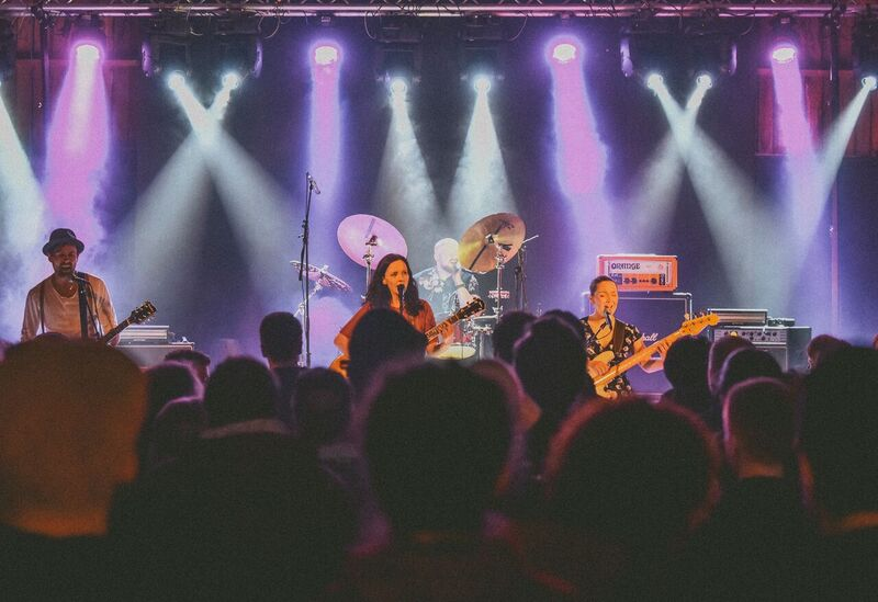 Hollow Hearts viste oss en energisk opptreden med mange fine sanger. Et band å følge med på fremover. Foto: Daniel Lilleeng
