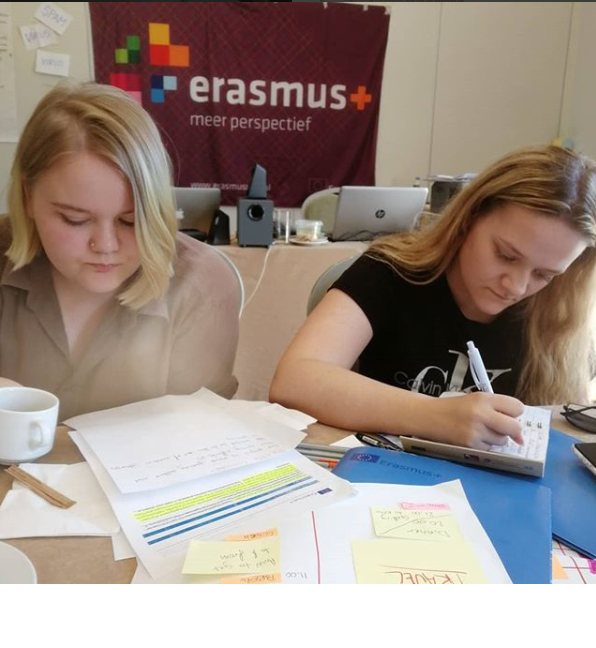 Kamilla and Martine Working hard at the Eyopener training course