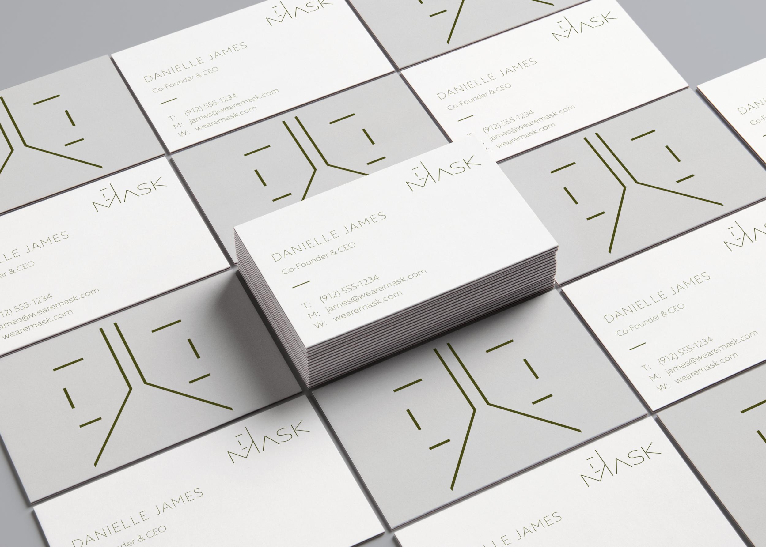 Mask - Business Card Mockup
