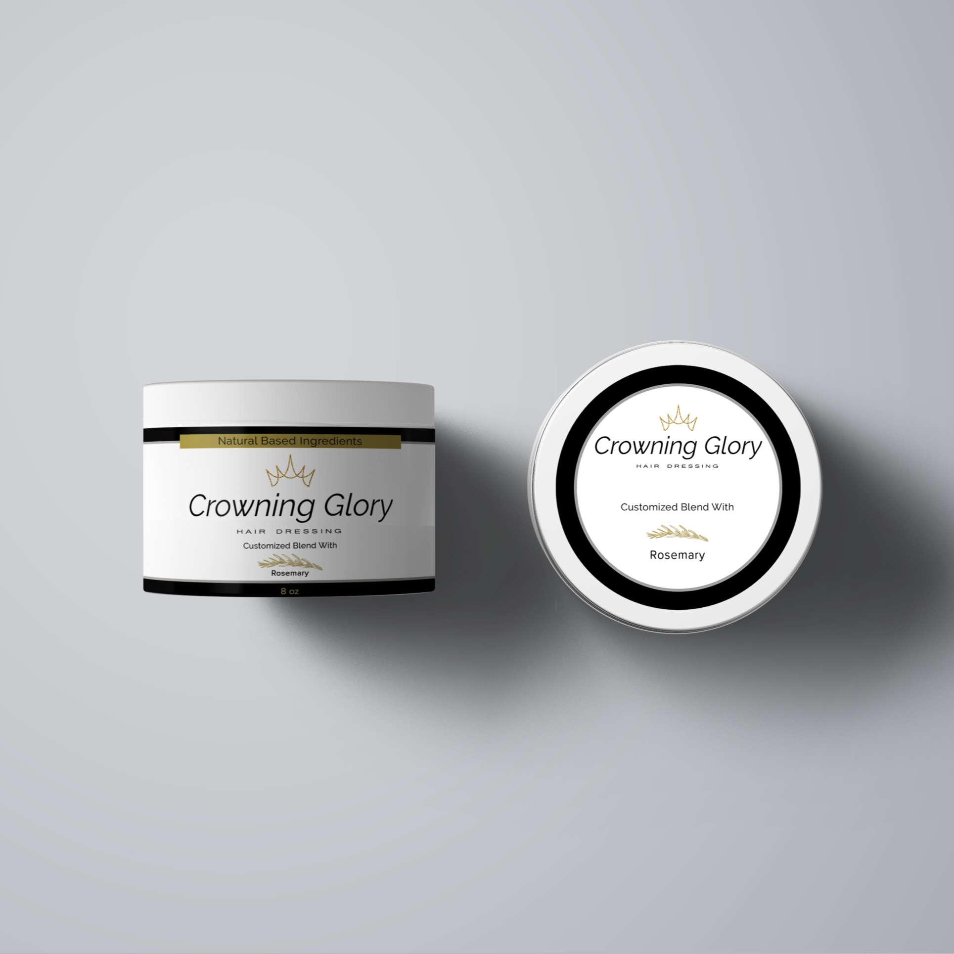 Crowning Glory - Custom Label Design for Jar