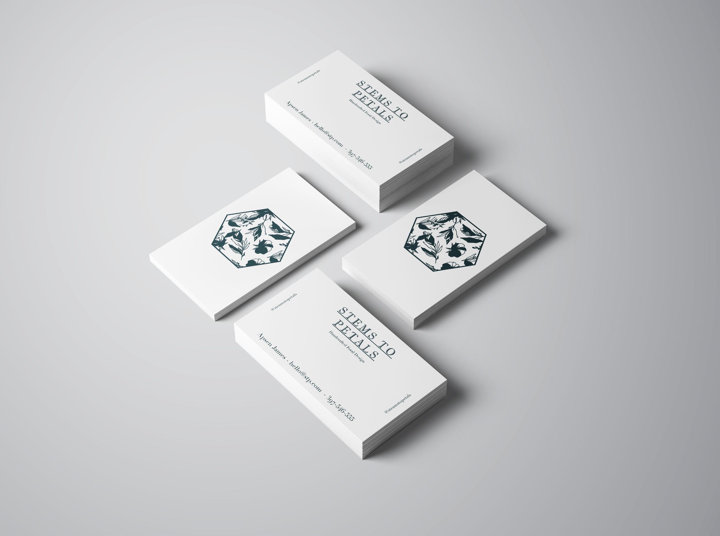 Stem To Petals - Business Card Design