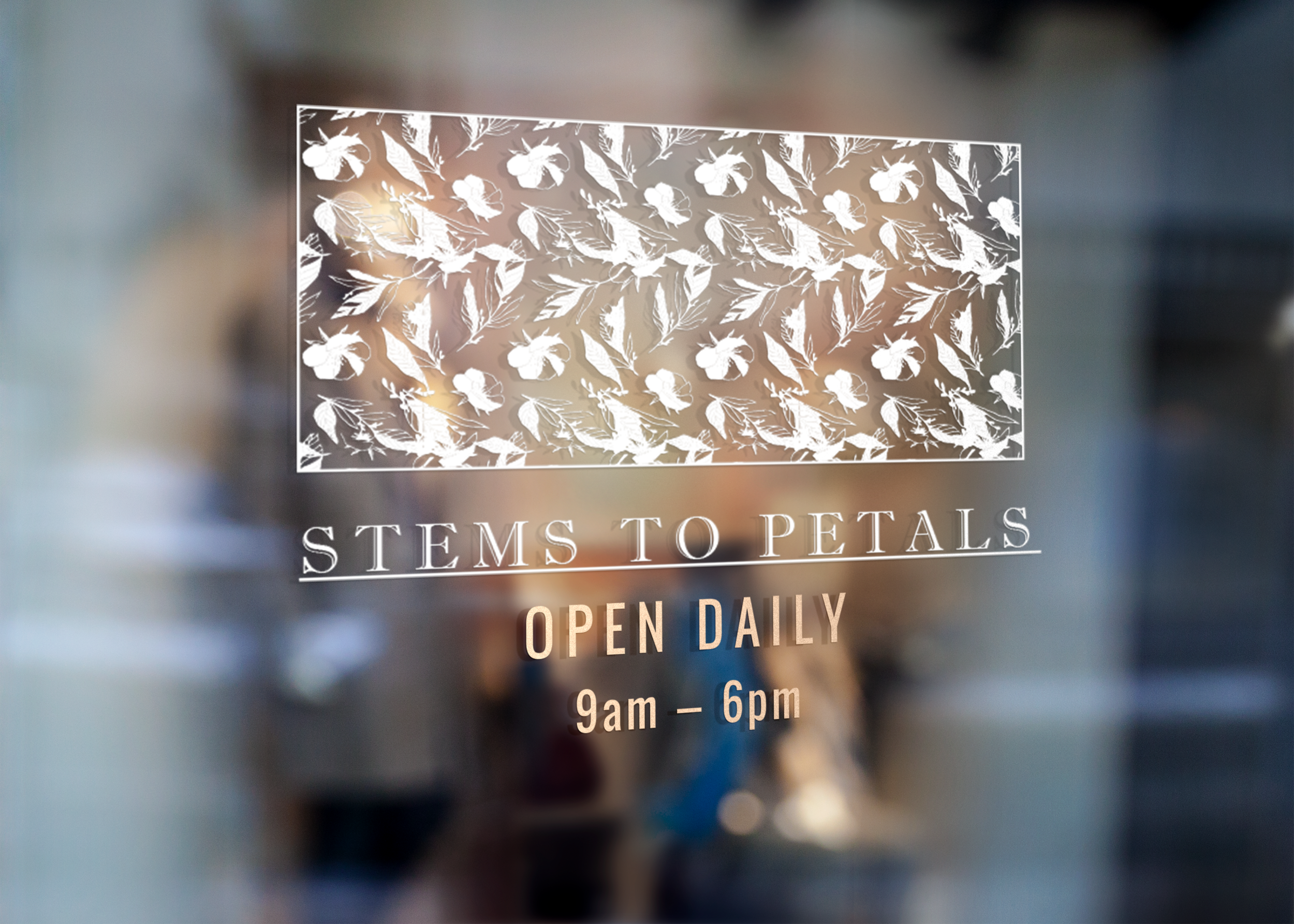 Stems To Petals - Window Signage