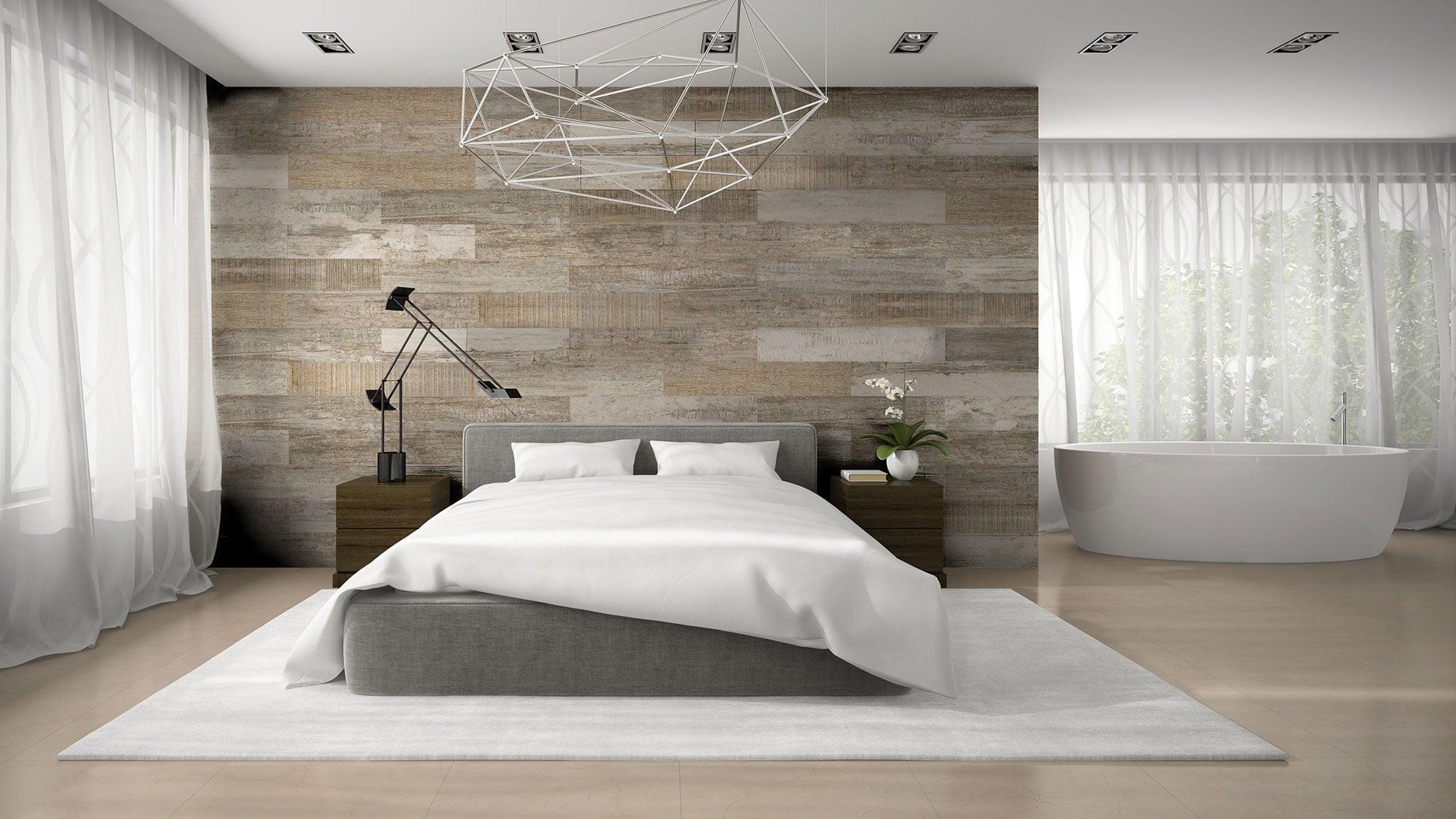 Old Wood Beige · 20 x 114 + Novelda Natural · 60 x 60