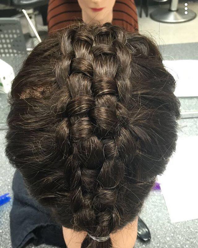 Gotta love braids!! #hair #hairschool #braid