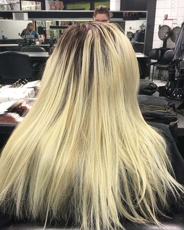 Before and after #ombre #hair #school