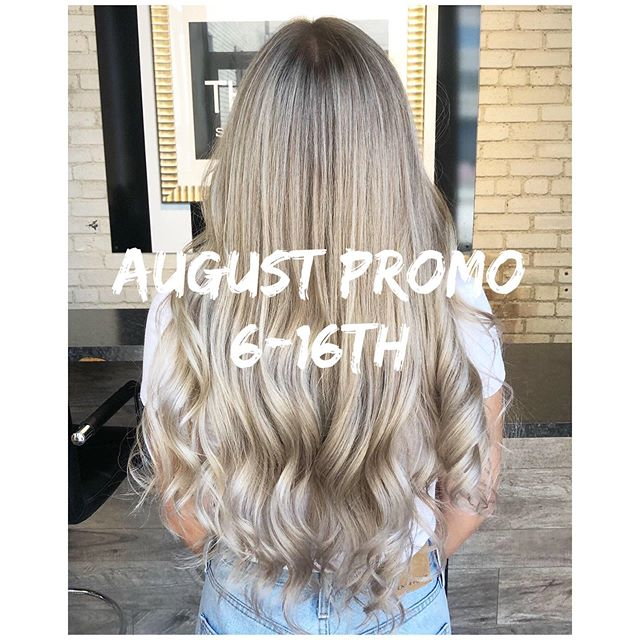 ✖️August promo between August 6-16th✖️ ✖️30% off color service for new or returning clients✖️ ✖️Haircuts & styles aren't included in this promo✖️ ✖️Call salon at 204-942-7387 OR DM me✖️ ✖️Tag your friends✖️