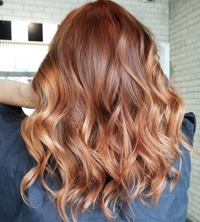 Pumpkin Spiced ☕ • • • #hotd #september #hairtrends #hairpainters #1000orbust #behindthechair #shadeseqgloss #redkensalon #redkenobsessed #hairartist #hairinspo #winnipeghair #winnipeghairsalon #winnipegbusiness