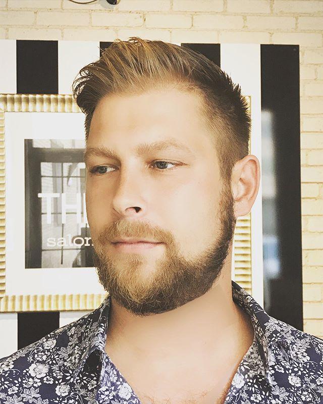 Fresh Cut & Beard Trim!! #menshaircuts #winnipegstylist #redken #livingproof #redkenbrews #mensshorthairstyles
