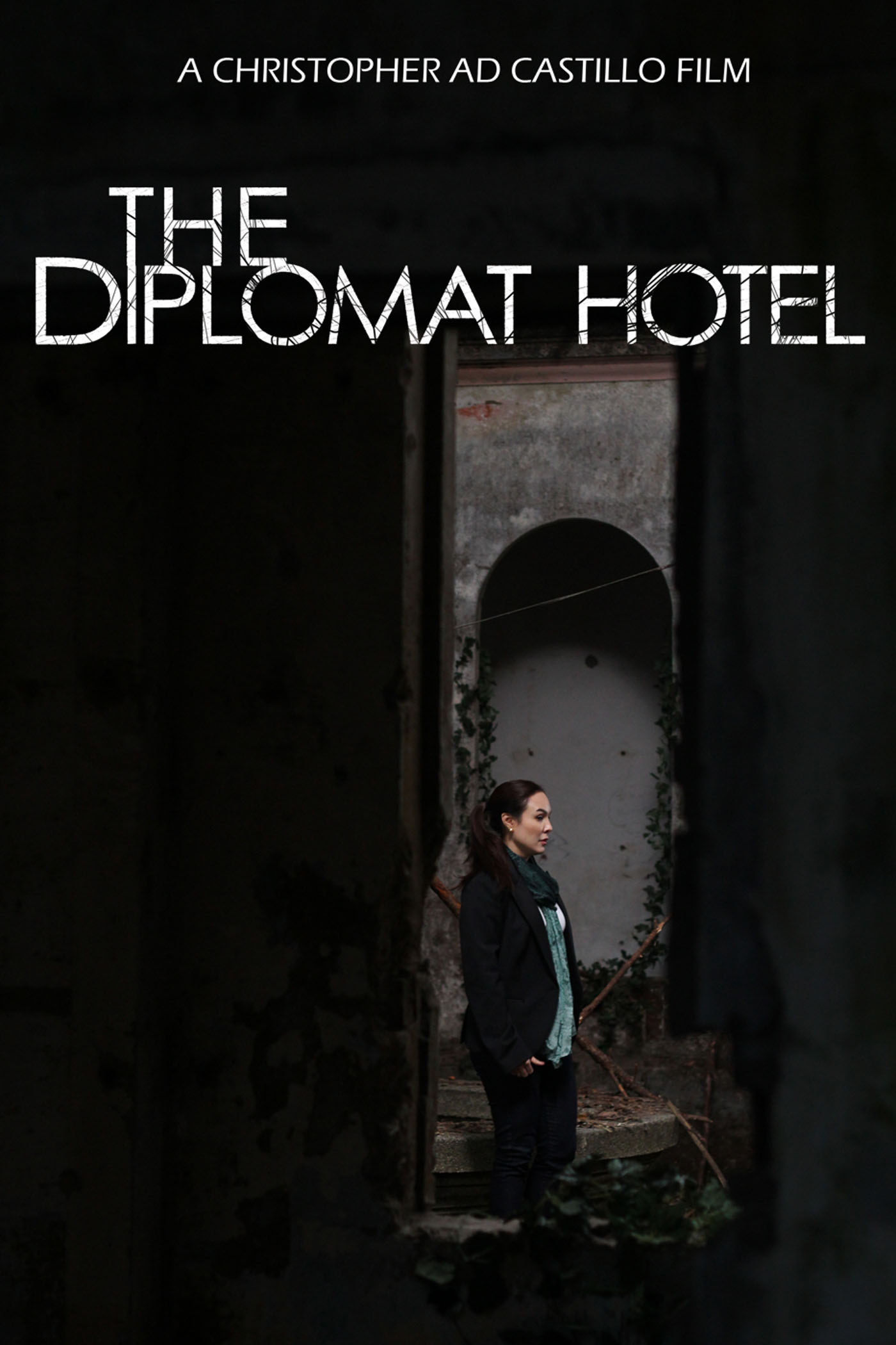 The Diplomat Hotel Film   Victoria Lansang is a popular news reporter who has been requested to mediate a hostage crisis. And in front of a national television audience, something horribly goes wrong and people are killed while Victoria suffers a mental breakdown. A year later, she's eager to get back into the game. However, the only assignment she can get is to do a documentary on the last night of The Diplomat Hotel in Baguio City, a crumbling and abandoned building infamously known for its bloody past and its hauntings. Looking for redemption, she arrives there with her crew and they start filming. But as they get deeper into the night, the place starts to exert its will on them and they find out exactly what monstrous evil awaits at The Diplomat Hotel.  By daybreak, their lives will never be the same again.  DIRECTED BY:   Christopher Ad Castillo  MAIN CAST:   Gretchen Barretto, Art Acuña, Mon Confiado, Joel Torre, Nico Antonio, Sarah Gaugler (TURBO GOTH), Channel Delatorre, Brooke Chantelle, Abe Pagtama, Alvin Anson, Luchie Maranan, Carl Alexander Acosta, Karen Navarette Anton, Miel Riley Ribon, Evangeline Flora, Mica Panis, Michelle Panis, Jennylyn Samiana, Mark Anthony Marquez, Whammy Alcazaren   CREDITS:    Written & Directed by -  Christopher Ad. Castillo  Executive Producer  - Josabeth Alonso  Co-Producer  - Orlando Estillore  Producer  - Alemberg Ang  Production Manager  - Maxie Cuangco Evangelista III  Dop  - Dexter Dela Peña  Production Design  - Whammy Alcazaren  Art Director  - Frances Grace Mortel  Editing  - Carlo Francisco Manatad, Crio Sarchez  Music  - Denise Santos  Sound Design  - Ray Andrew San Miguel, Drew Milallos  Field Sound Recordist  - Ray Andrew San Miguel