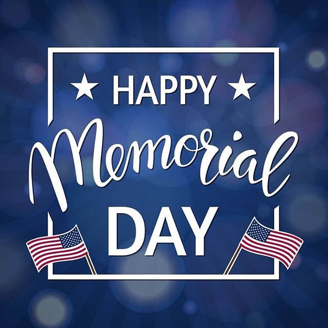 Wishing everyone a safe, enjoyable, and special Memorial Day! For the fallen and the ones we have personally lost, please take a moment of silence to recognize those we sacrificed all for the greater good of us. #happymemorialday
