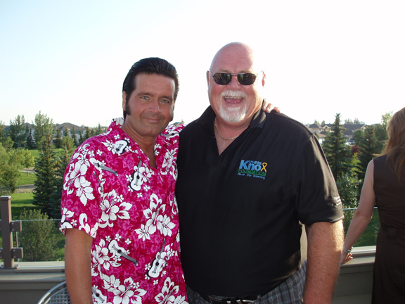 Rory with Jim Hopson, former president and CEO of the Saskatchewan Roughriders