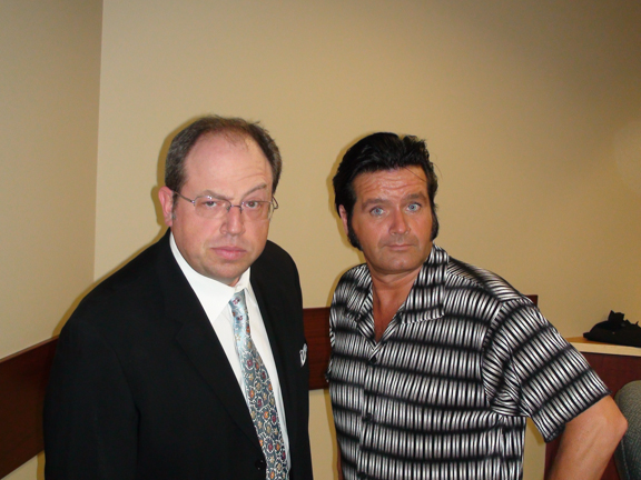 Rory with actor, comedian and writer, Brent Butt