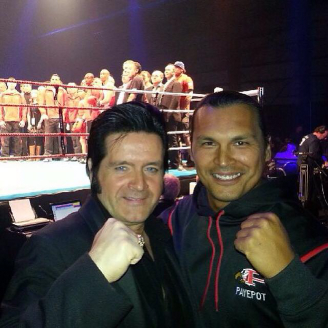 Rory with actor Adam Beach