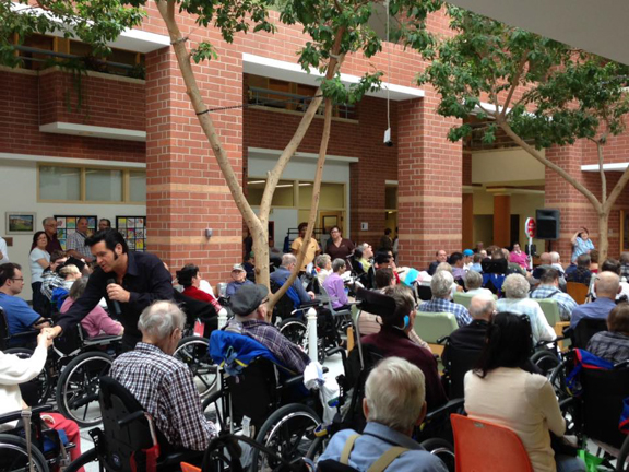 Rory performing for the residents of Wascana Rehabilitation Centre (Regina, SK)