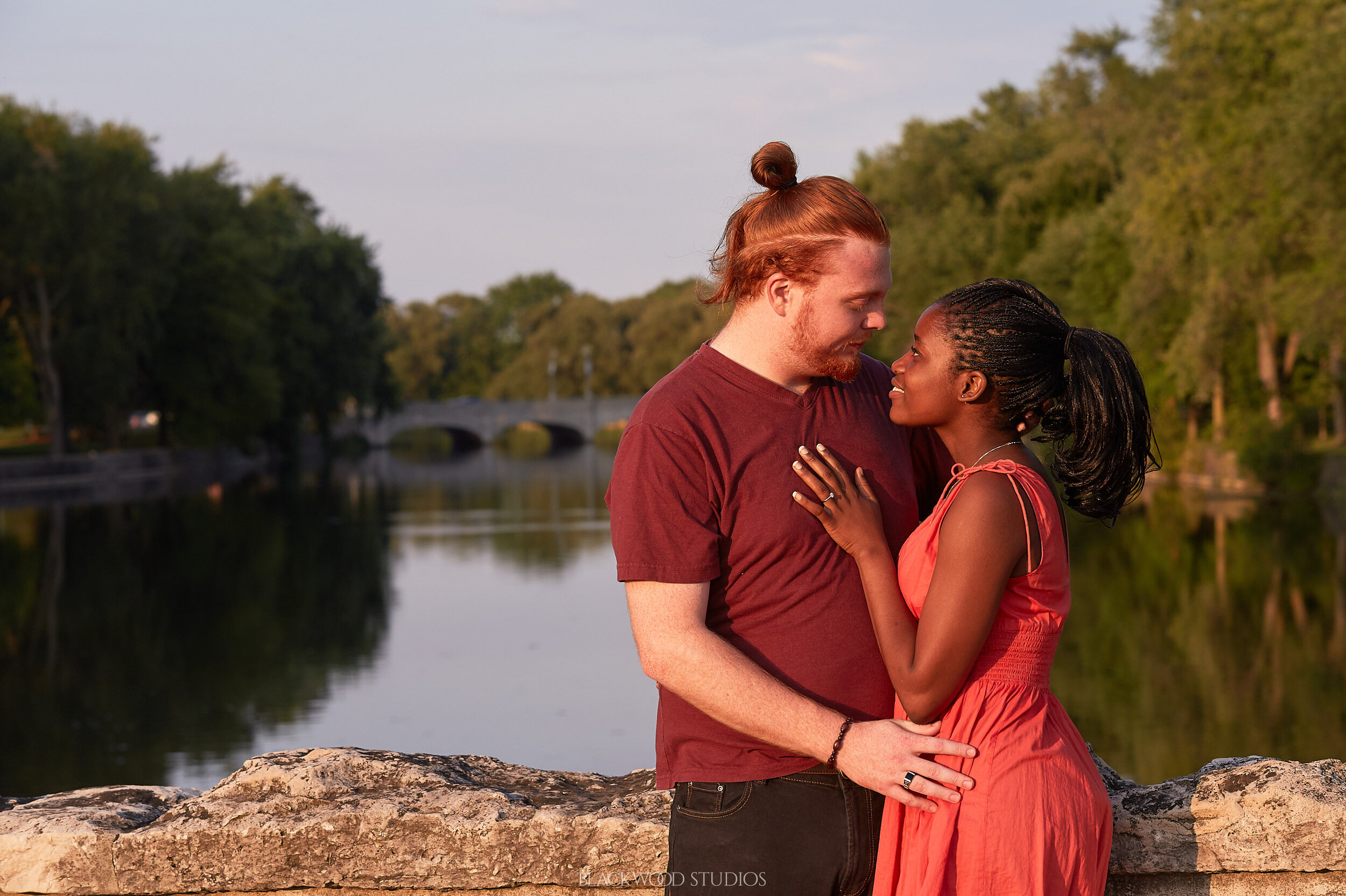 Curren and Jeremy Engagement Session at Royal City Park, Guelph, Ontario. Photo by Blackwood Studios (blackwoodstudios.co)