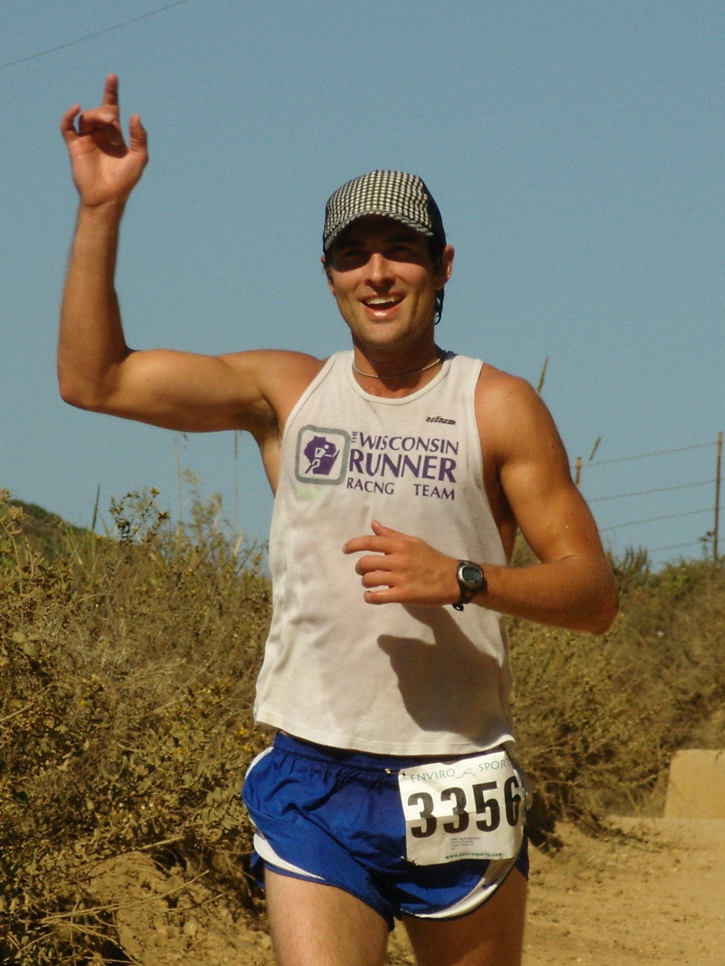 Michael running the Big Sur Trail Marathon
