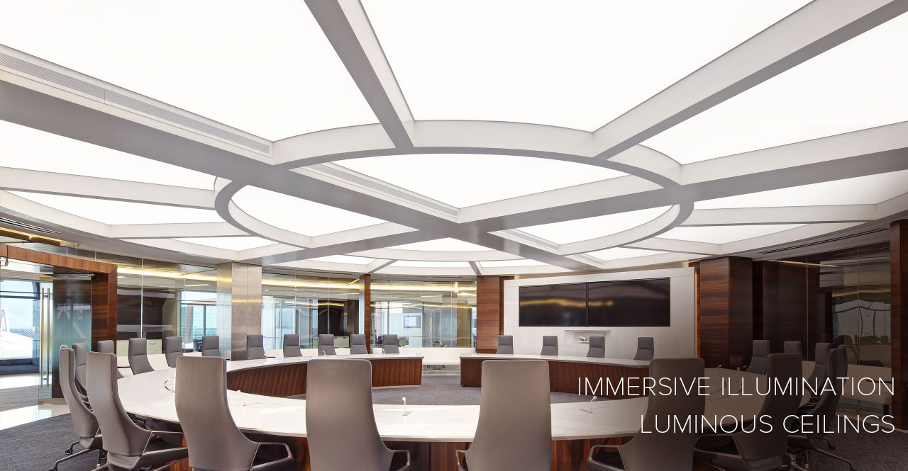 Clean, shadowless lighting for ceilings or walls. Custom fabricated fitment