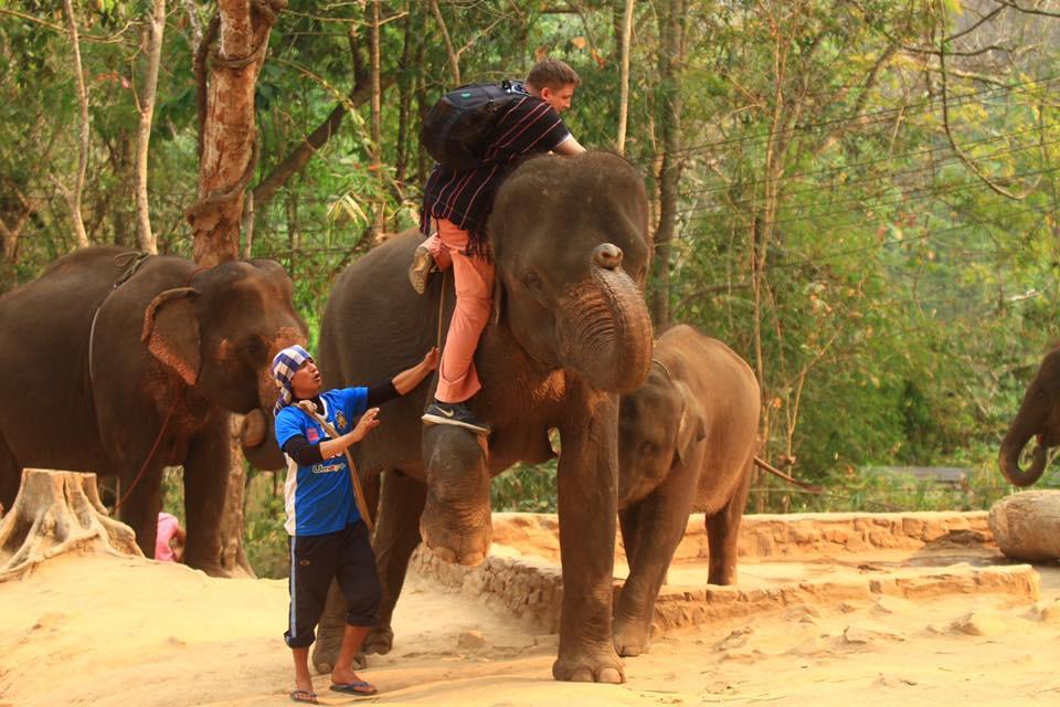 Daniel mounting Bon Jun.