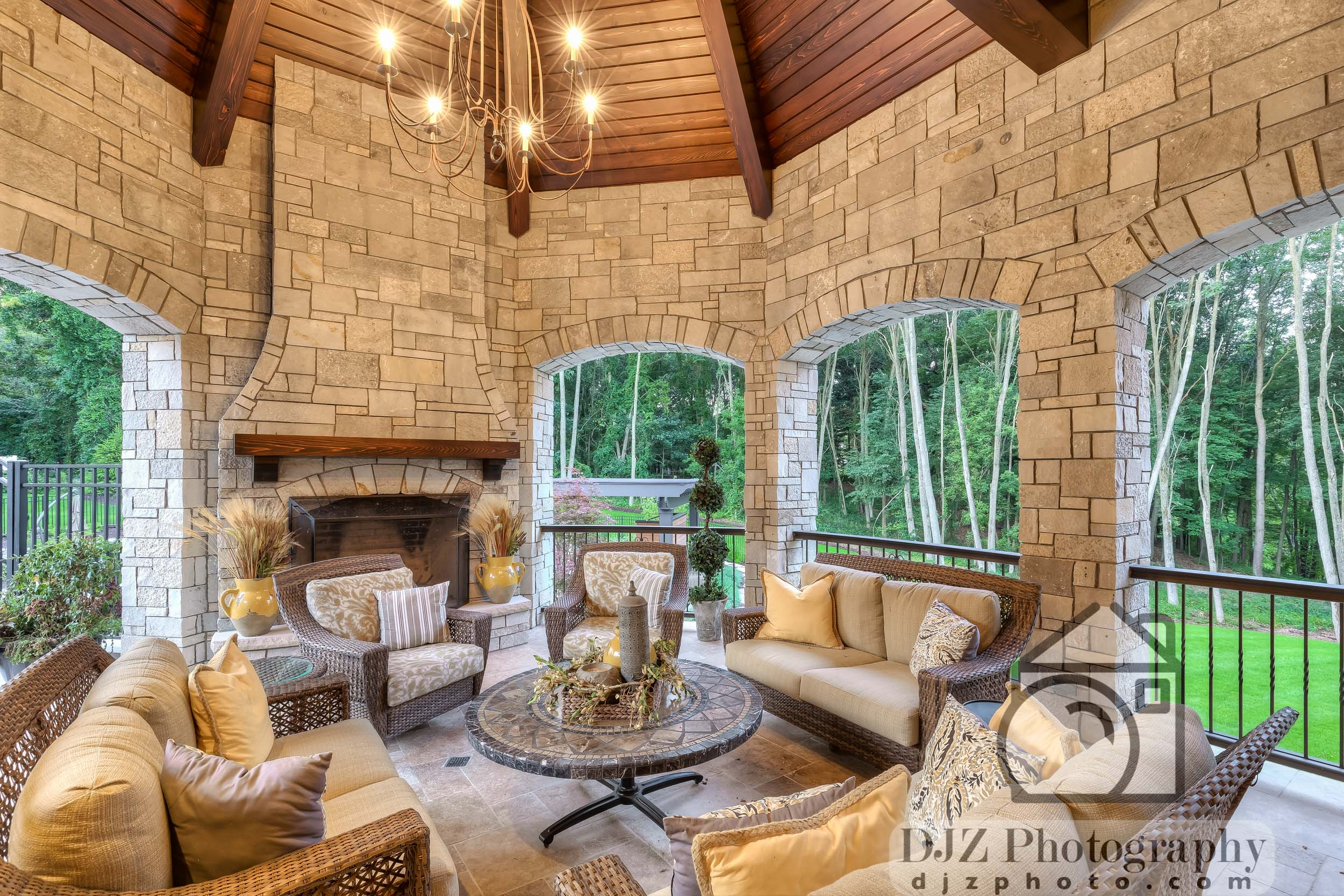 Fireplace on the Patio - Real Estate Photography