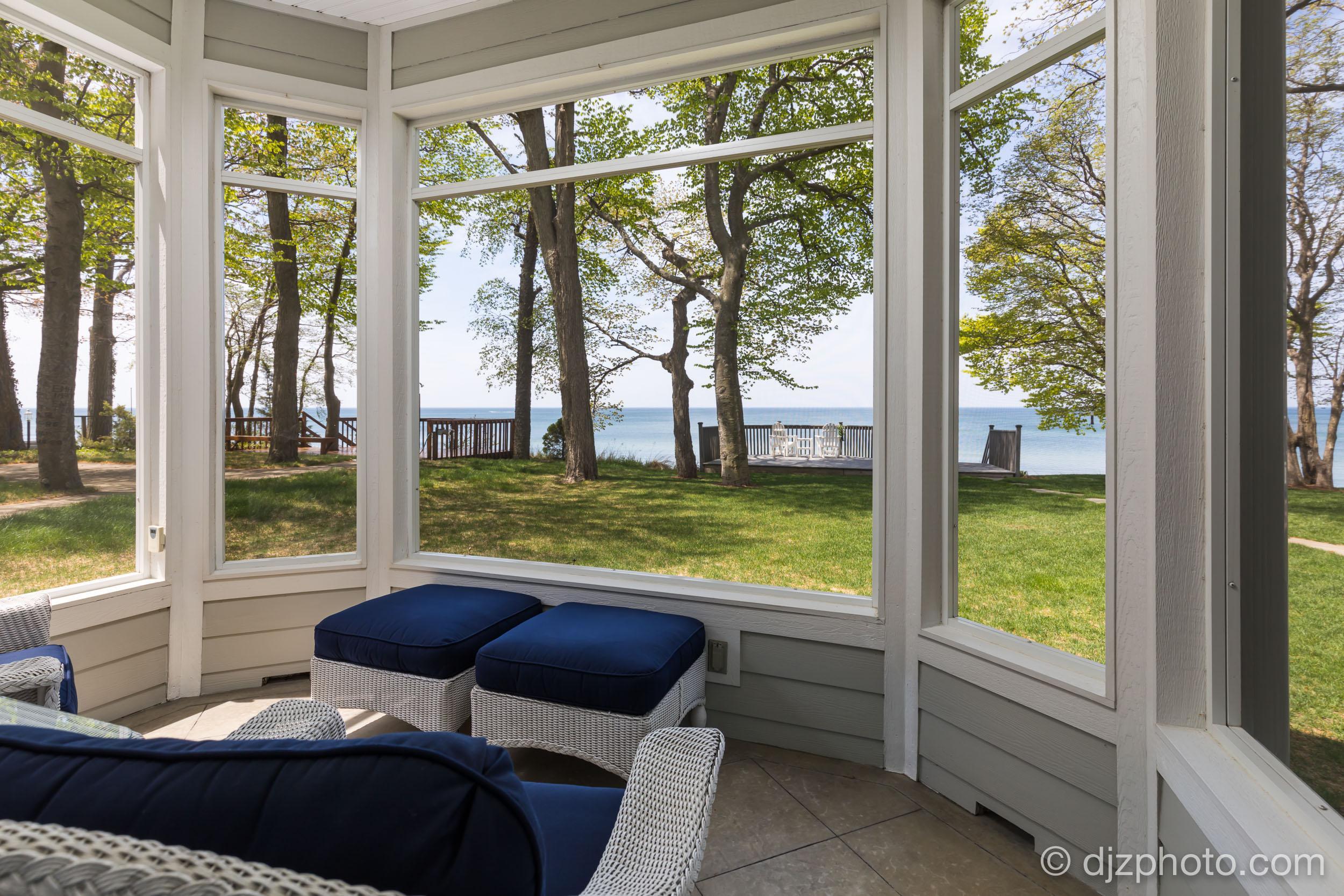 Screened Porch on Lake Michigan