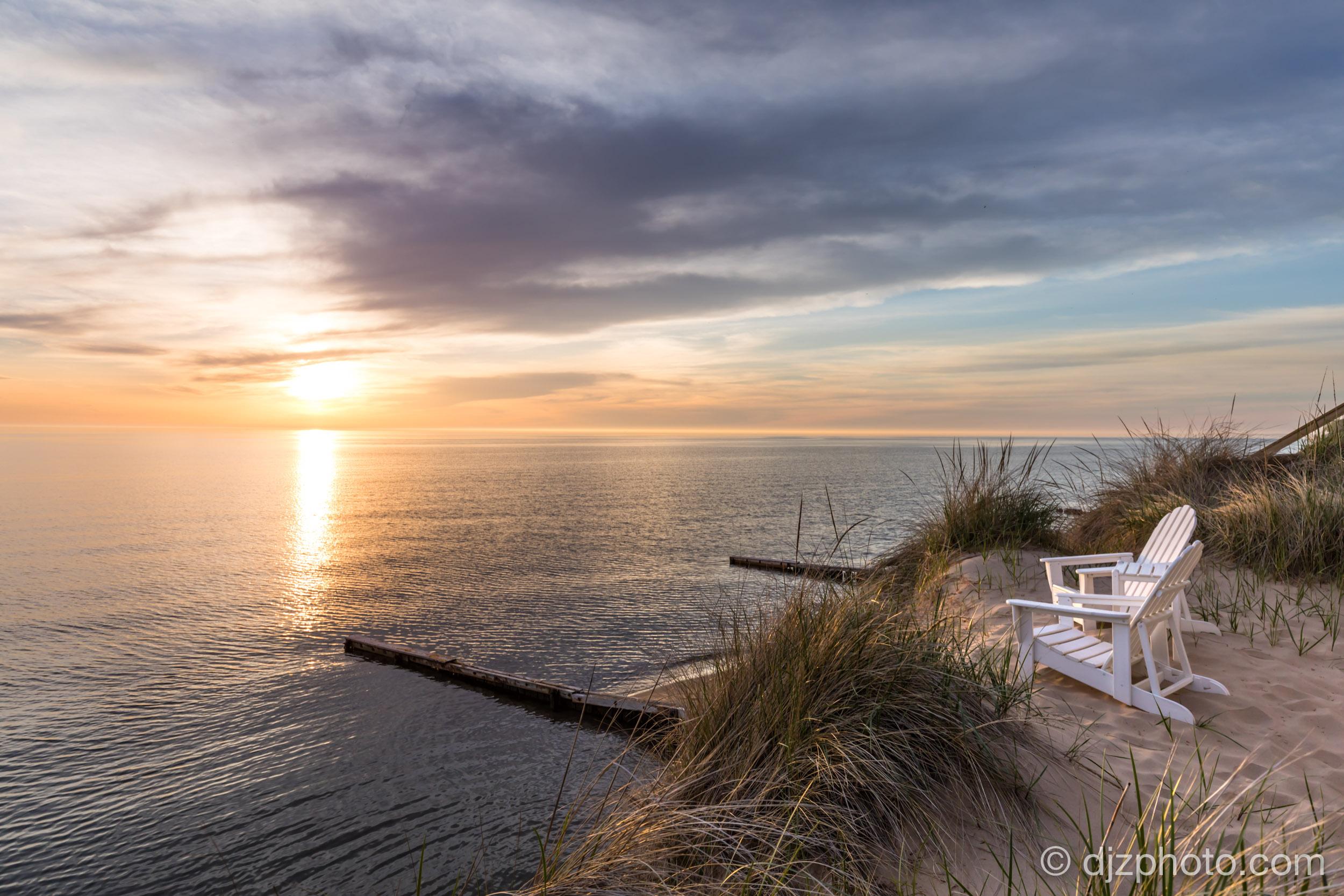 Private Beach on Lake Michigan