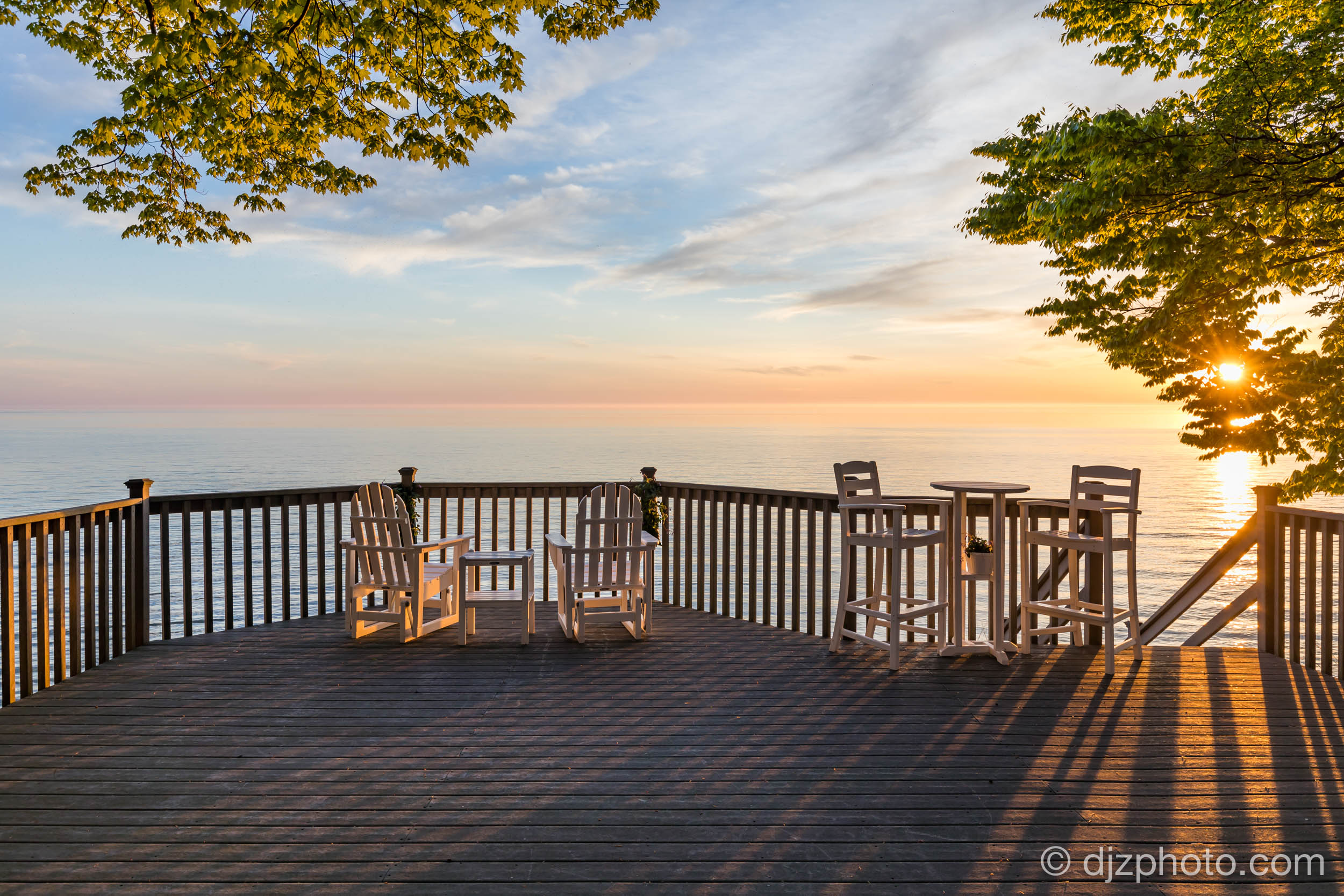 Deck over Lake Michigan