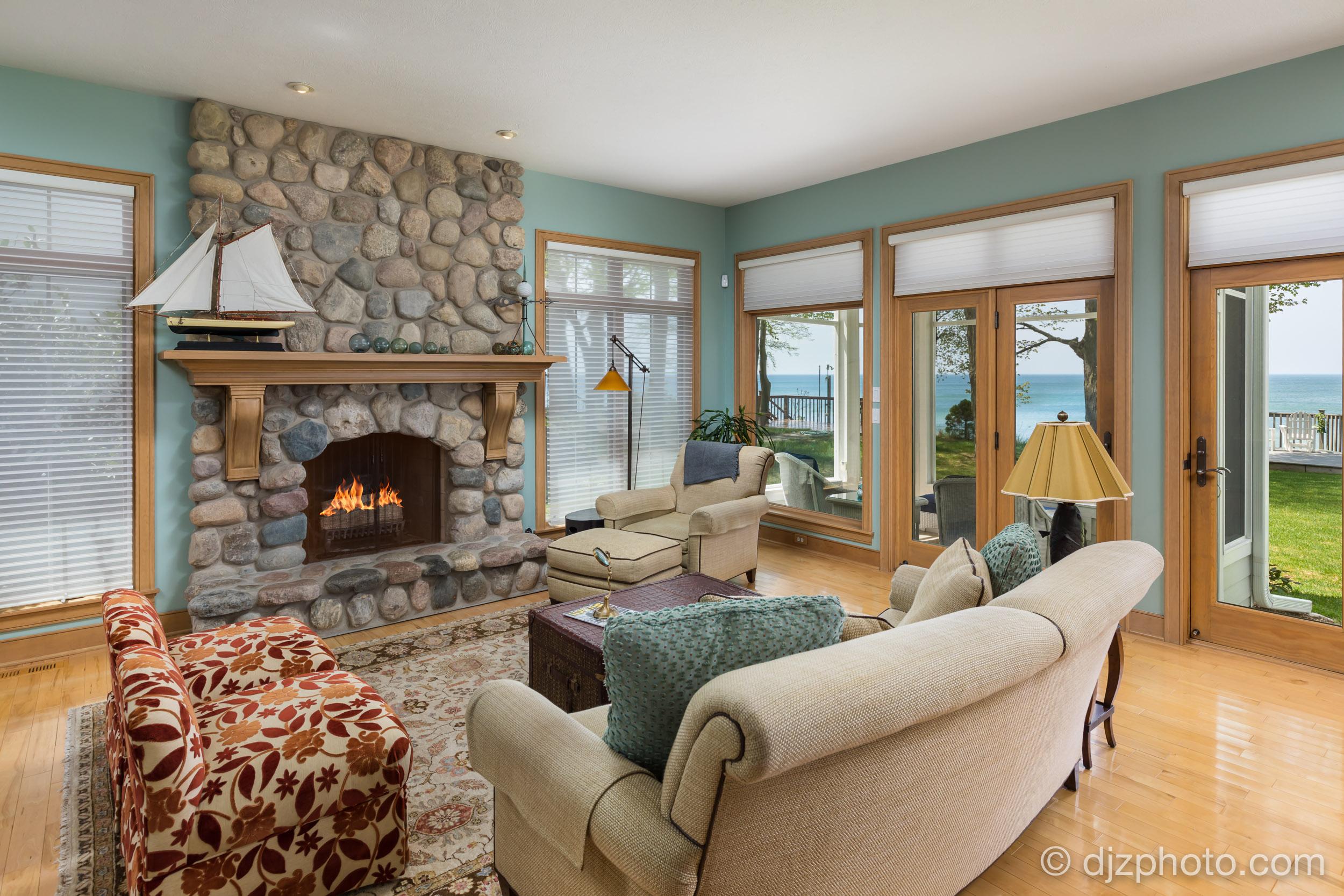 Living Room on Lake Michigan