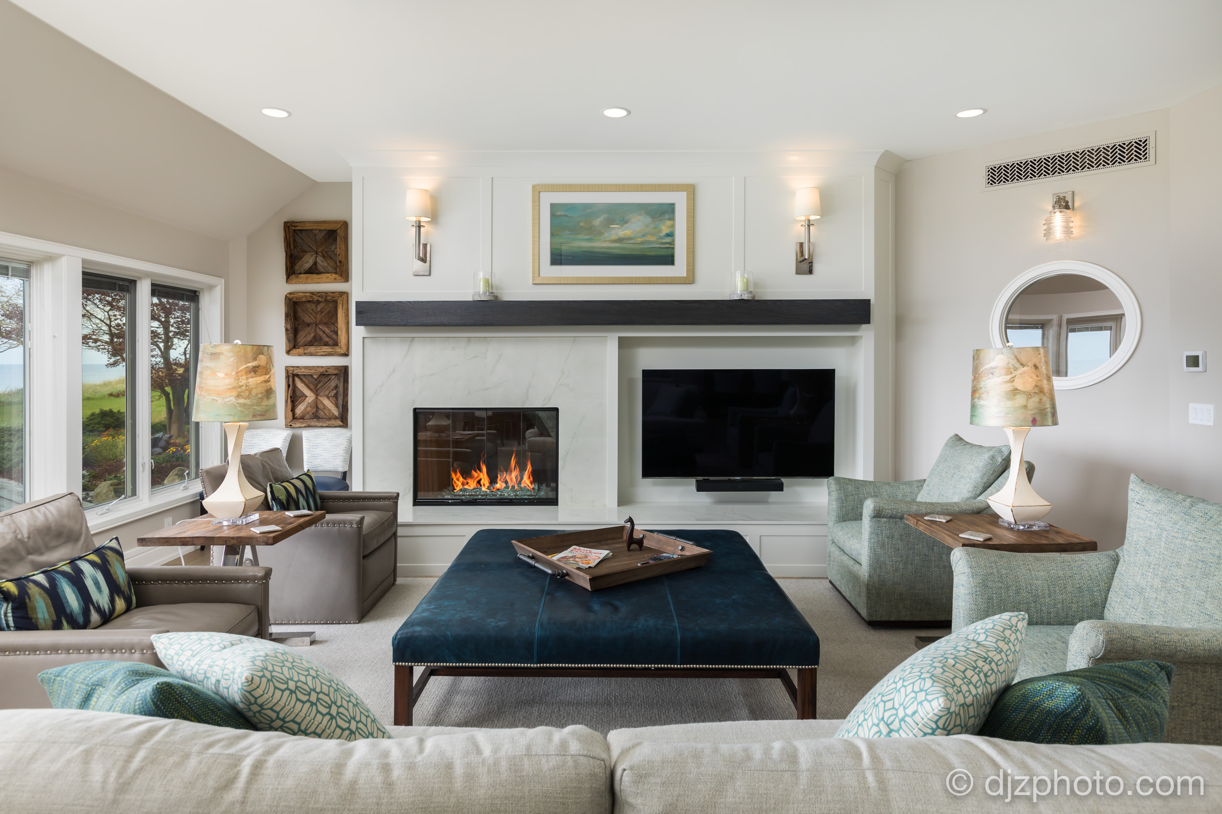 Remodeled Living Room by Lake Michigan