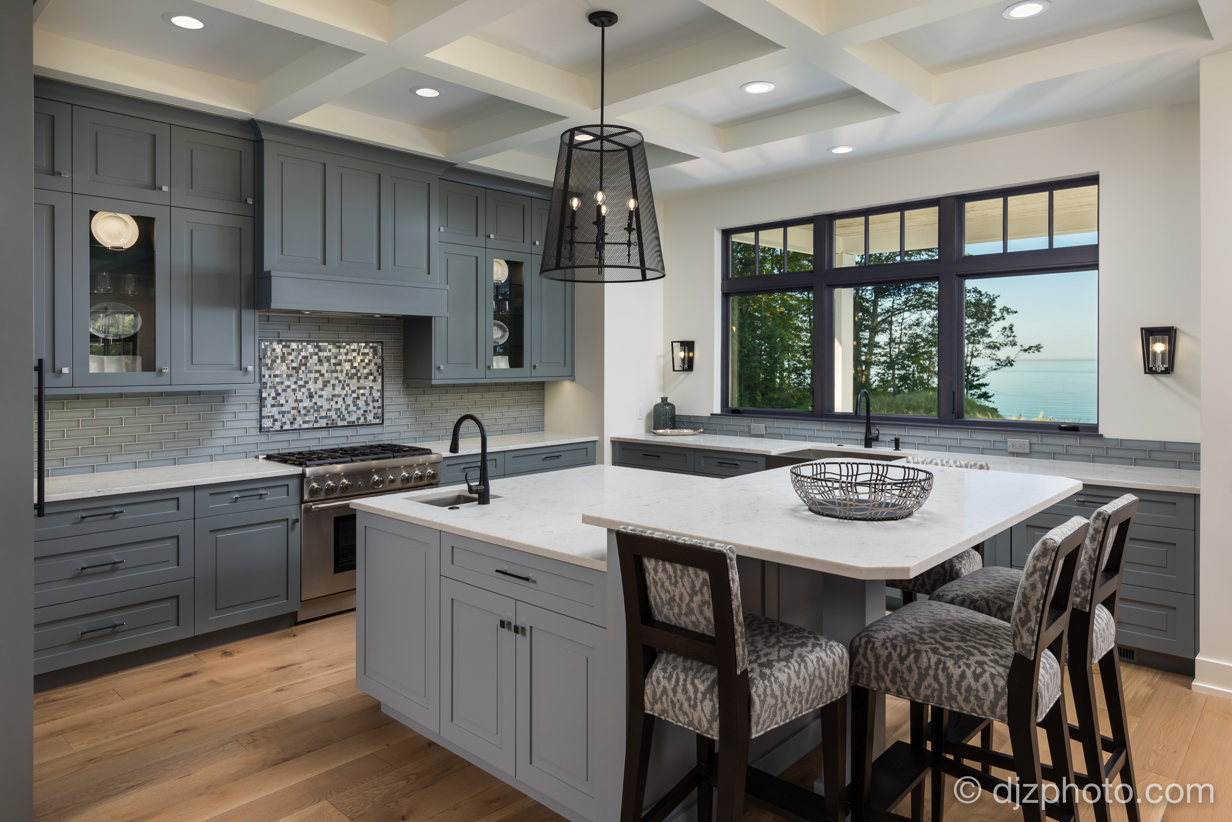 Kitchen with Lake Michigan Views