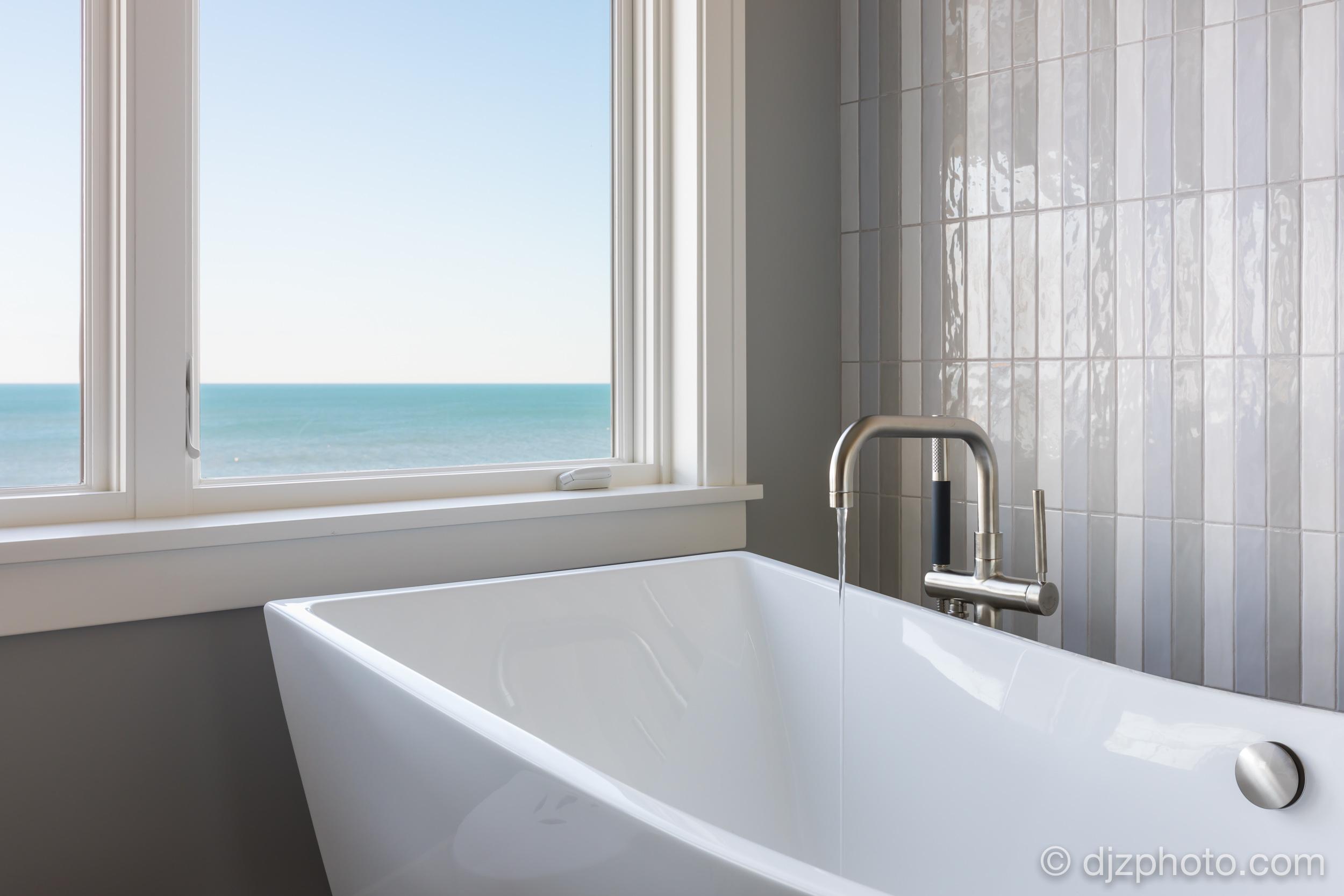 Bath Tub with Lake Michigan Views
