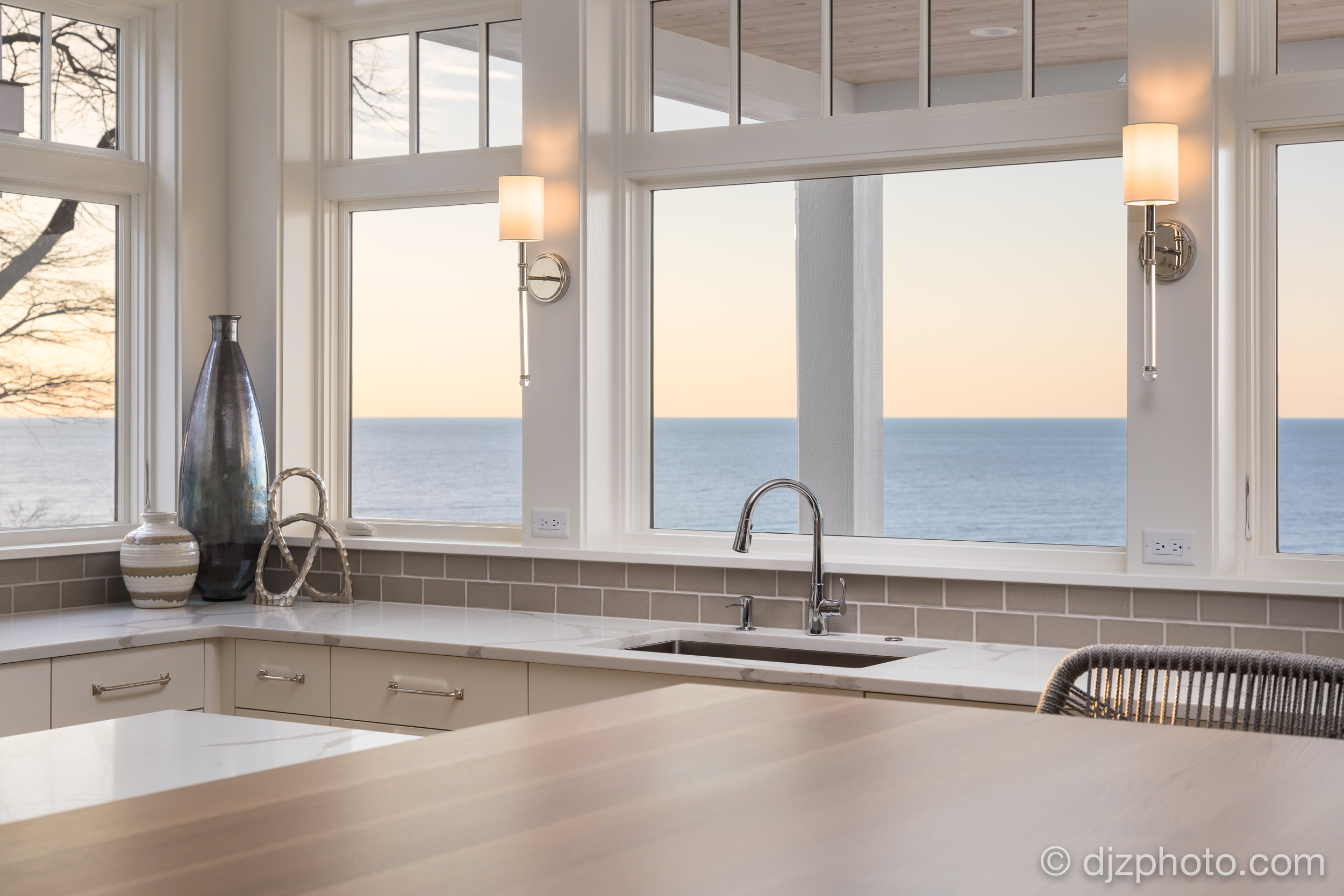 Kitchen Overlooking Lake Michigan