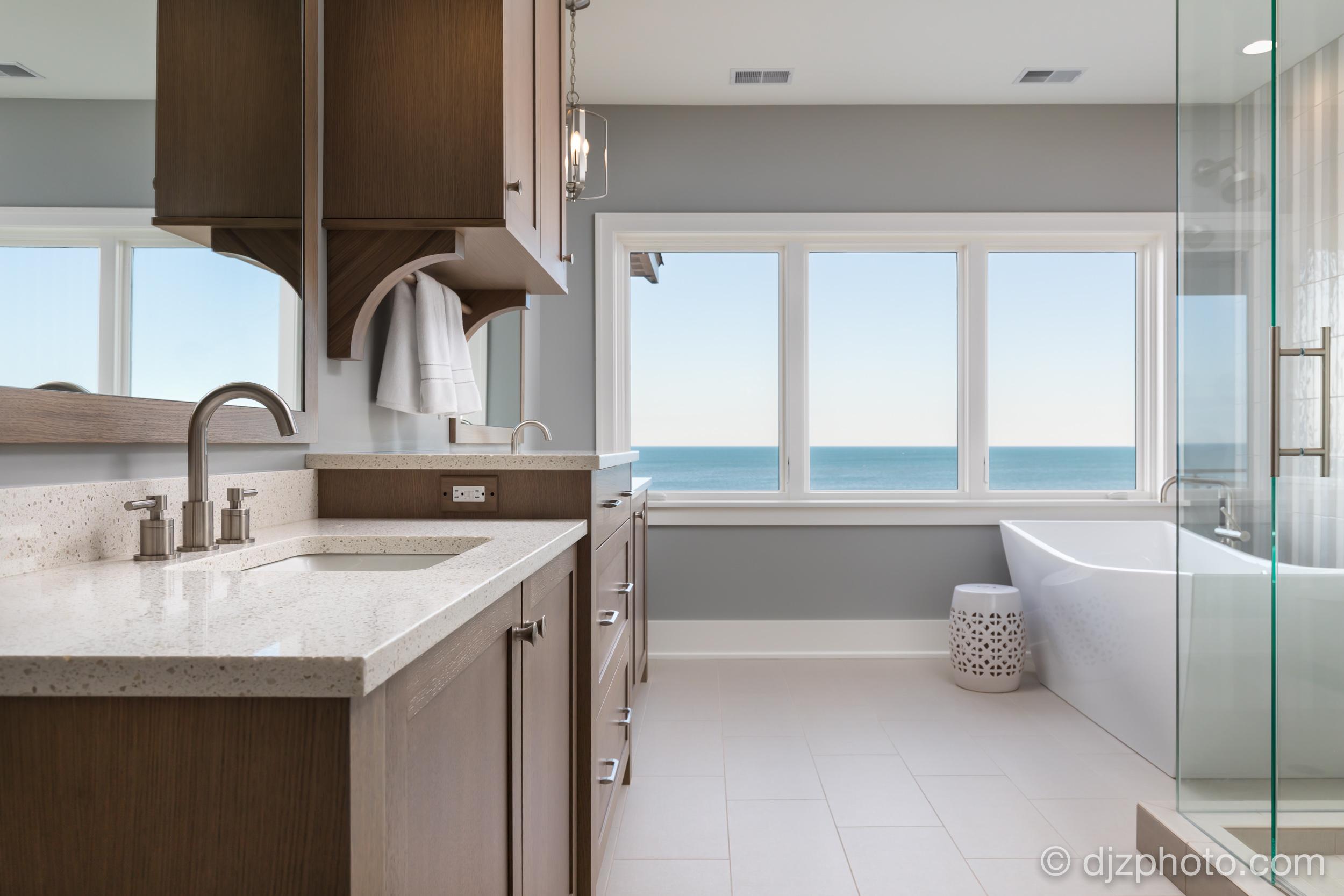 Master Bathroom by Lake Michigan