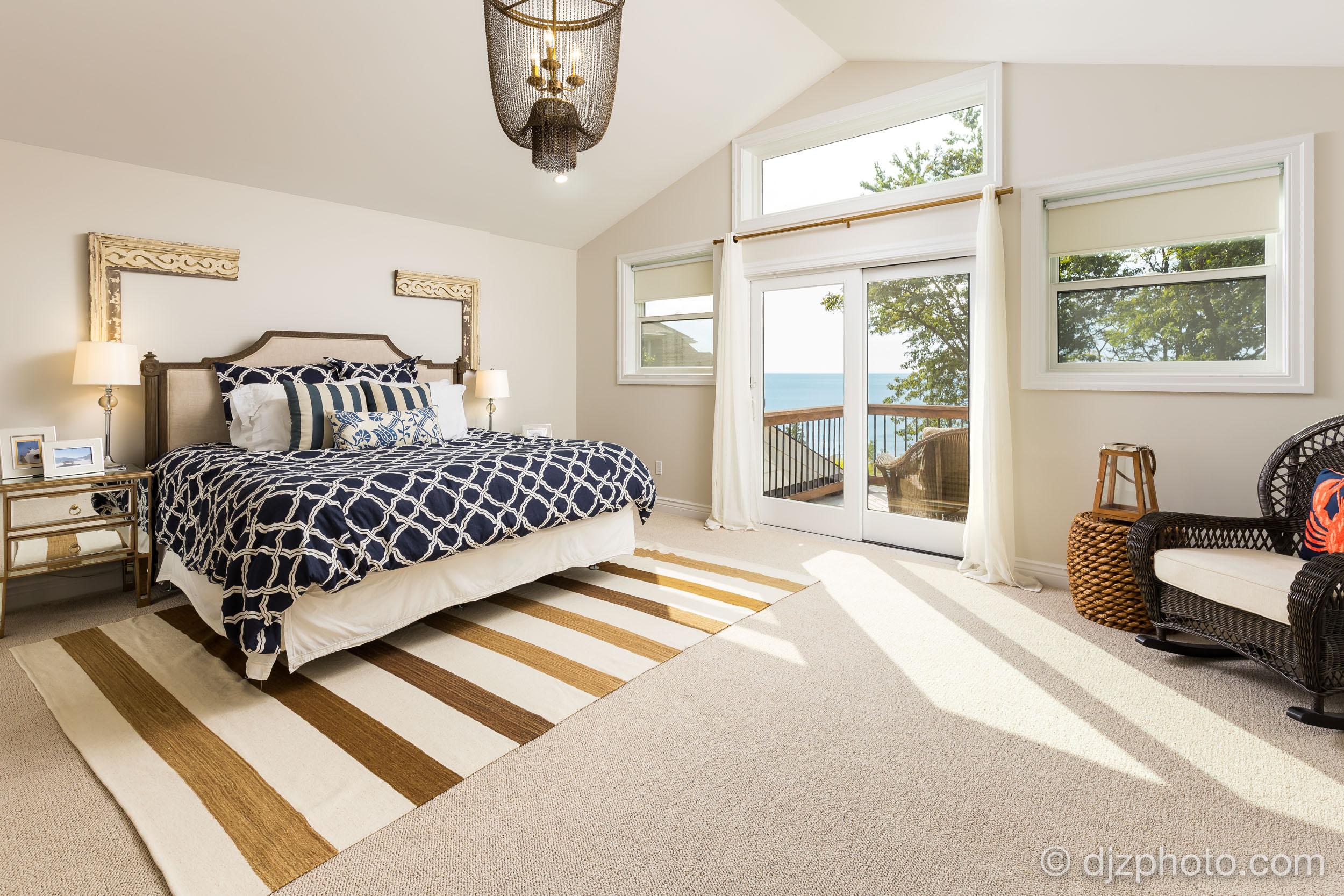 Master Bedroom with Lake Michigan Views