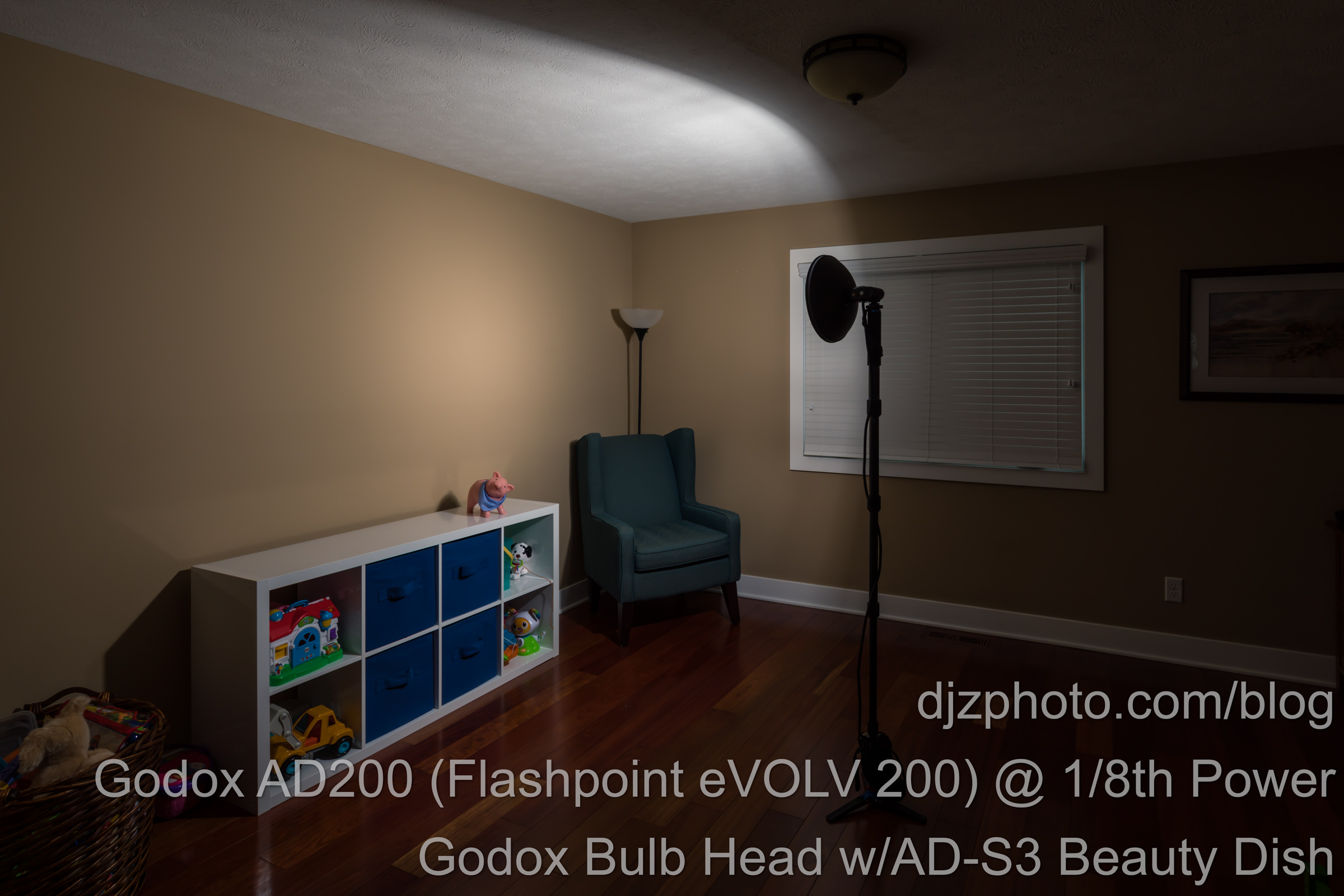 Godox AD200 Bulb Head with Beauty Dish