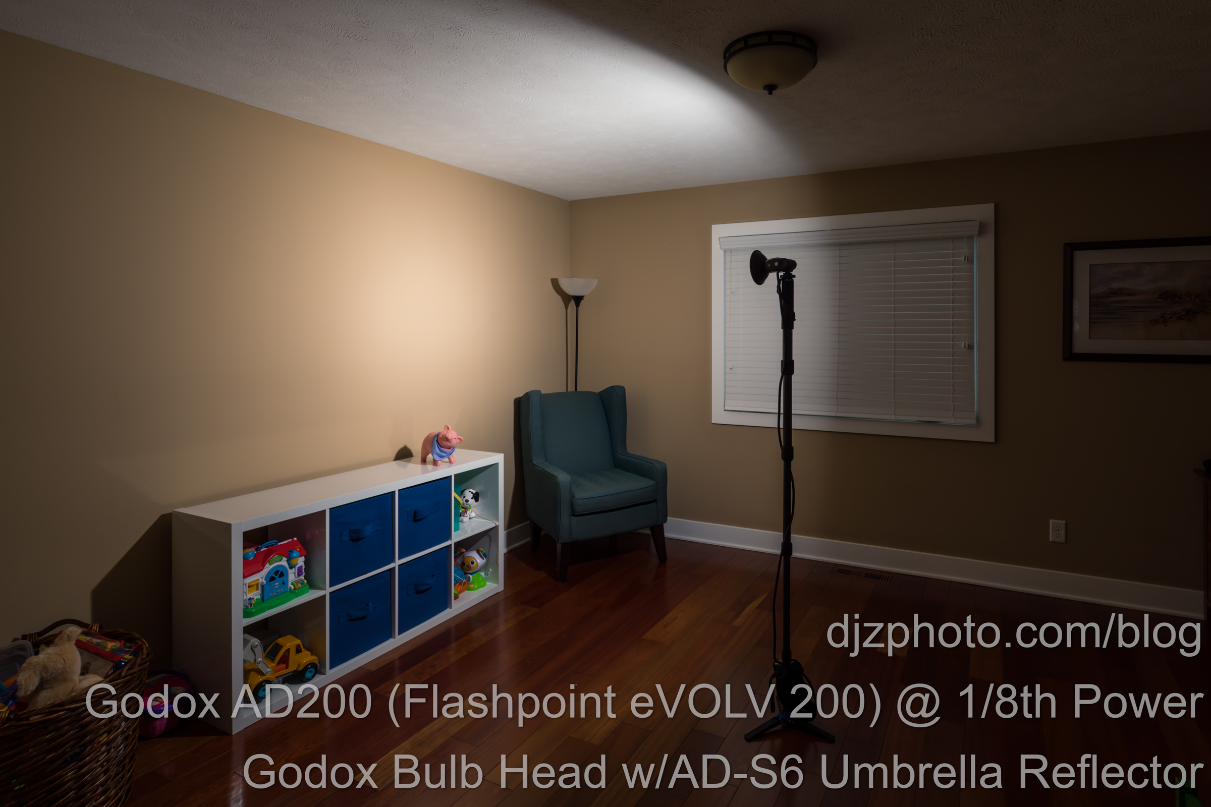 Godox AD200 Bulb Head with Umbrella Reflector