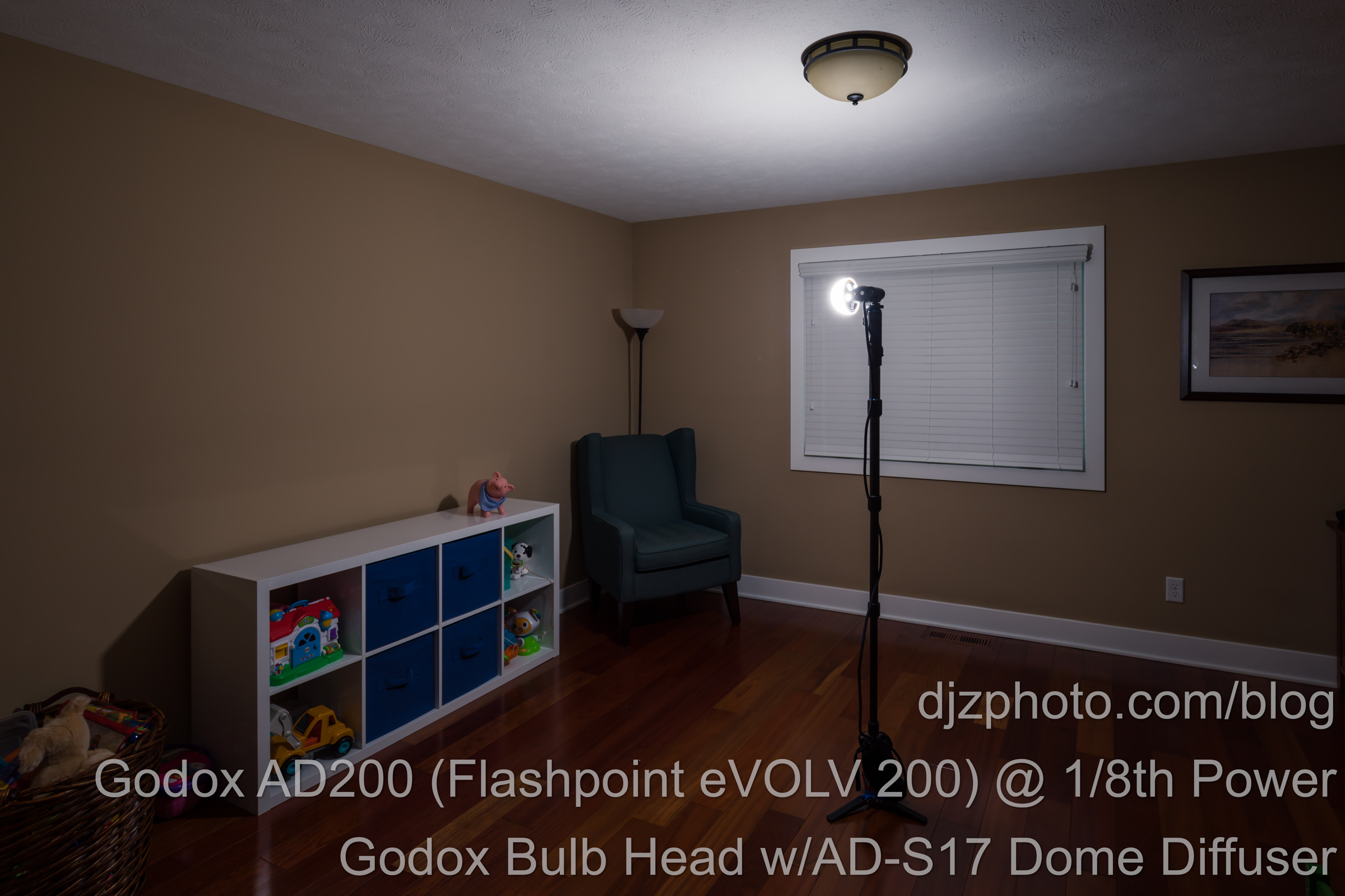 Godox AD200 Bulb Head with Diffusion Dome