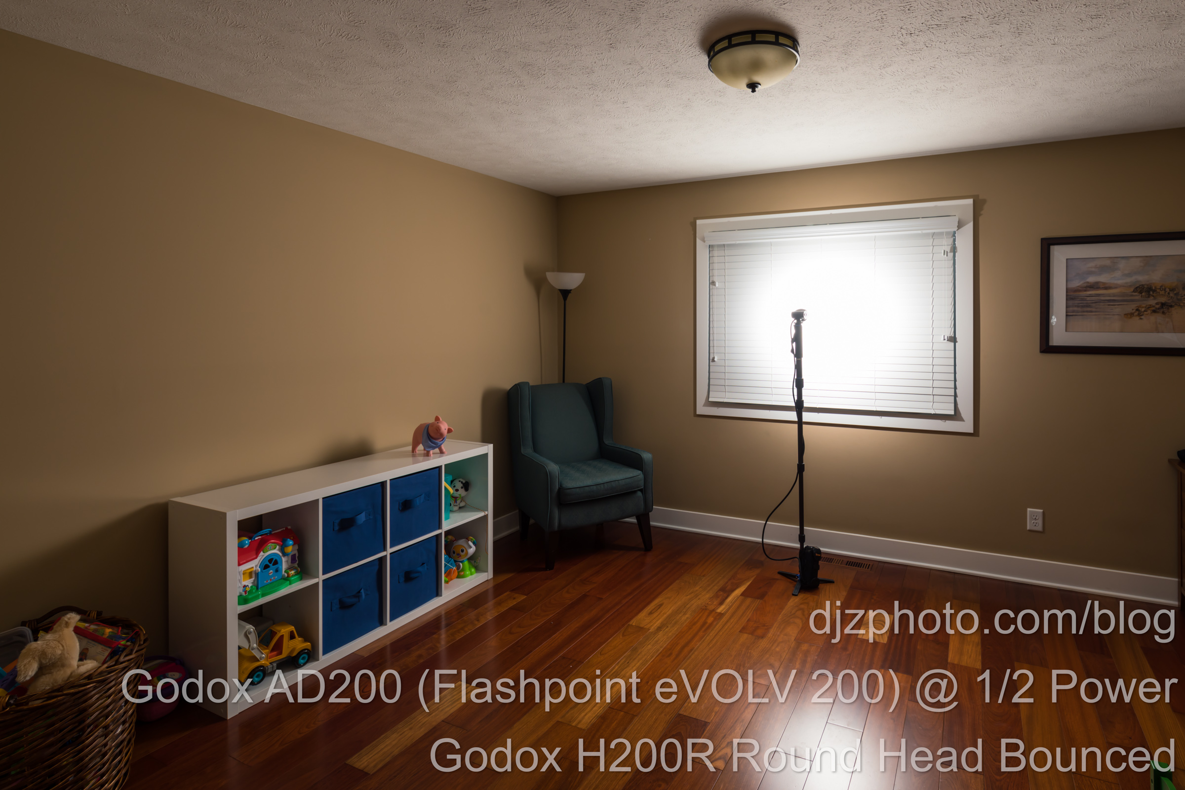 Godox AD200 Round Head at Half Power