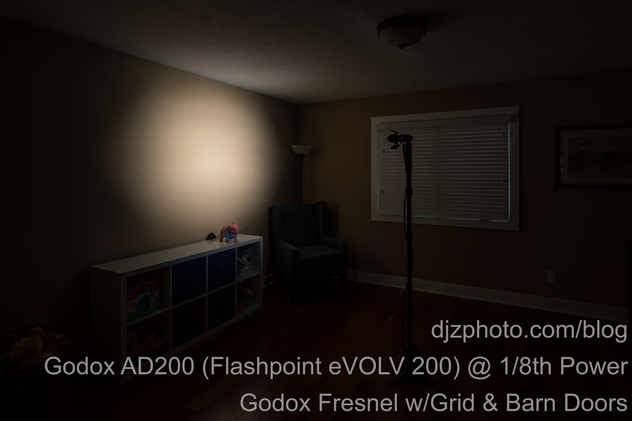 Godox AD200 Fresnel Head with Grid