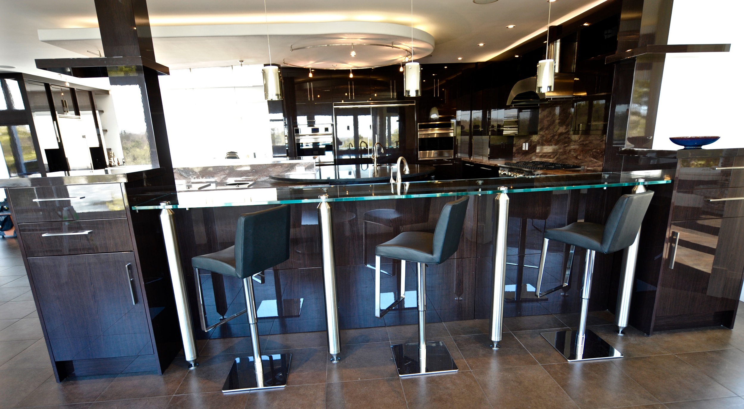 Glass Counter Top / Custom Stainless