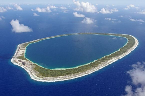 The atoll is a coral reef around a sunken istand