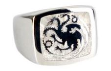 The  signet ring of the House of Targaryen, the three headed dragon.