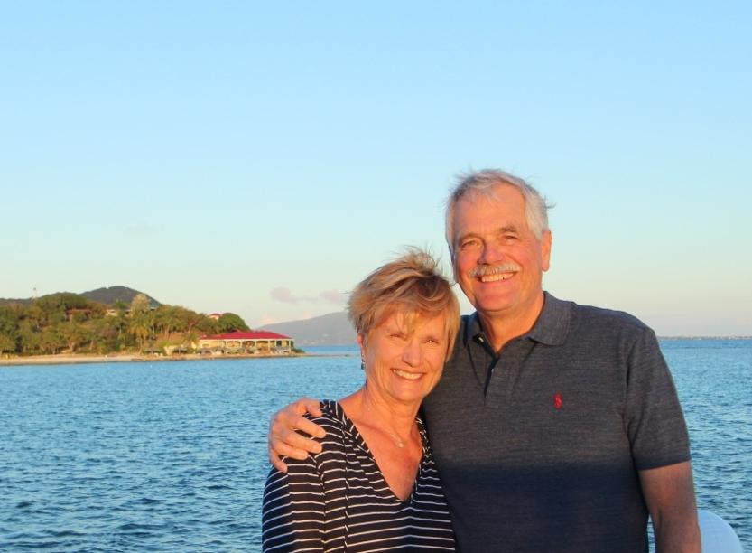 LINDA & JOHN SCHILLING marina cay, BVi, january 2017