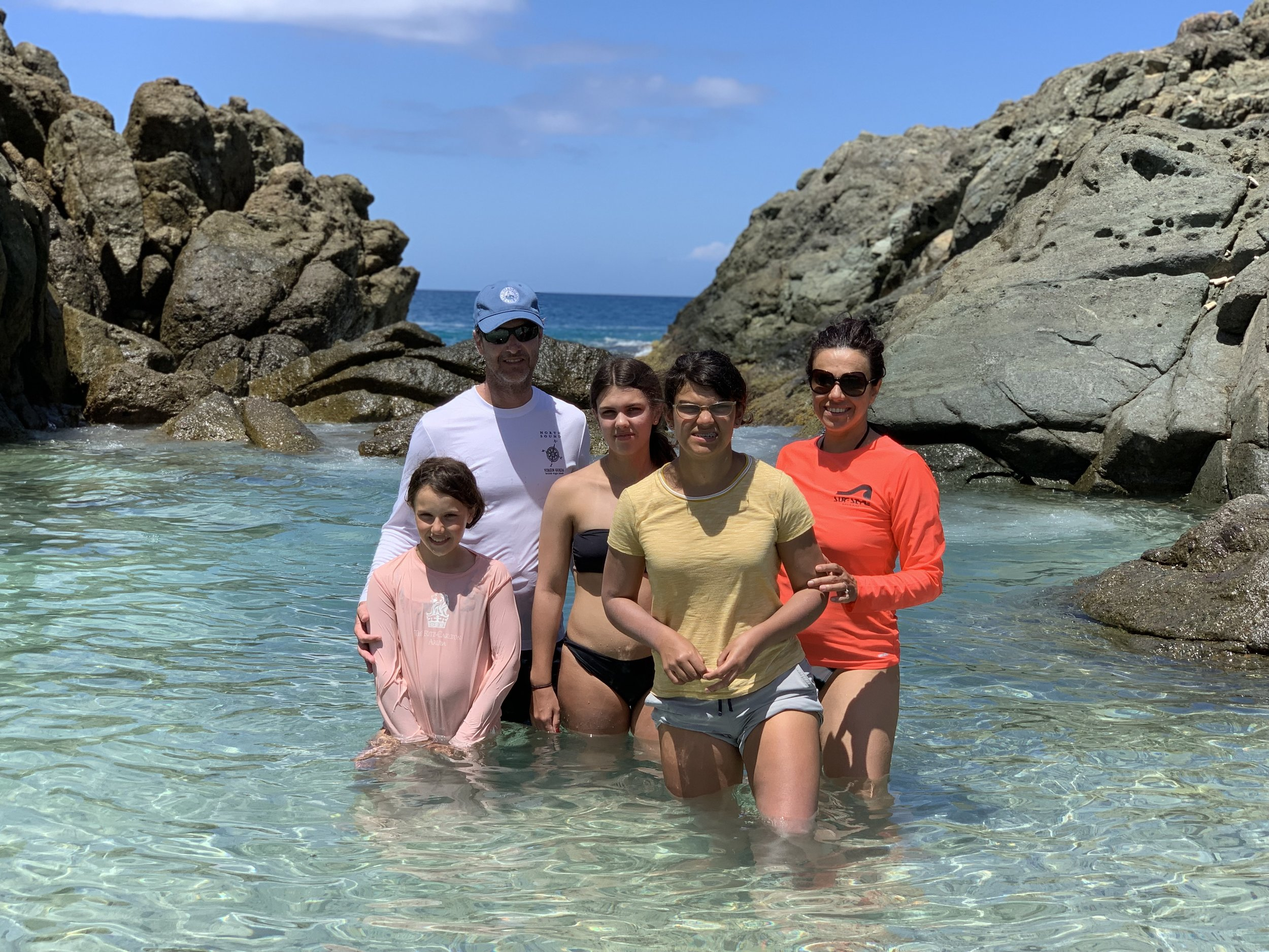 halloran family charter BUBBLY POOL, JOST VAN DYKE SPRING BREAK MARCH 2019
