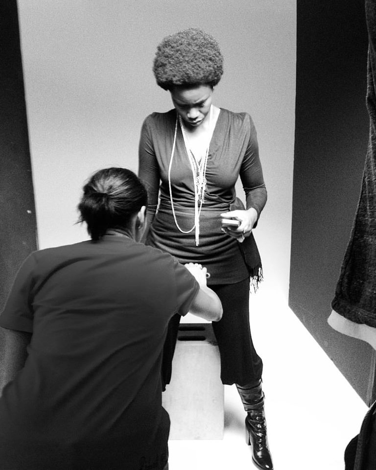 Styling for actress Adepero Oduye with photographer, Bradford Young.
