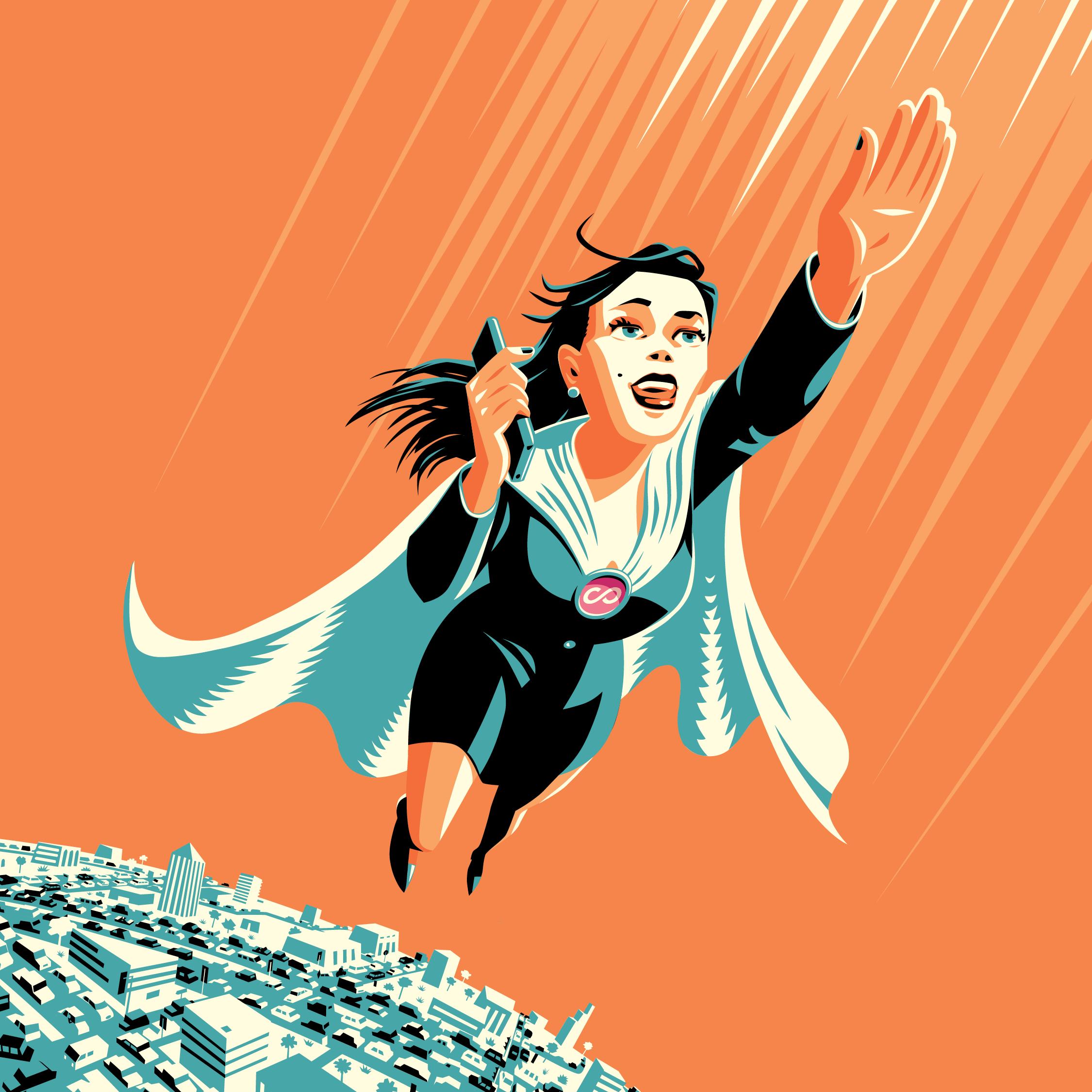 Web Tile - Hero girl -